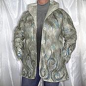 Одежда ручной работы. Ярмарка Мастеров - ручная работа Валяное пальто с капюшоном. Handmade.