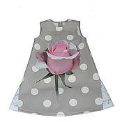 Одежда детская handmade. Livemaster - original item Elegant sundress for a girl made of neoprene with a rose p. .128. Handmade.