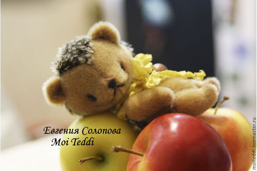 Мишки Тедди ручной работы. Ярмарка Мастеров - ручная работа. Купить ежик. Handmade. Бежевый, авторская работа, ежик тедди