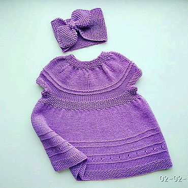 Товары для малышей ручной работы. Ярмарка Мастеров - ручная работа Комплекты одежды: платье и повязка. Handmade.