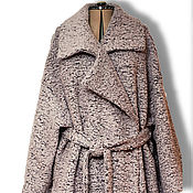 Одежда handmade. Livemaster - original item Cocoon coat big size Street fashion - 2/ Look-2. Handmade.