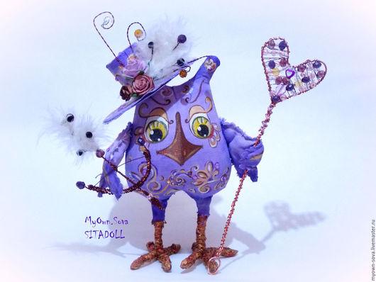 Коллекционные куклы ручной работы. Ярмарка Мастеров - ручная работа. Купить МУДРАЯ СОВА КУПИДОН. Handmade. Роспись, текстильная кукла