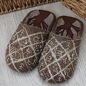 """Обувь ручной работы. Ярмарка Мастеров - ручная работа Тапочки """"Пещеры"""". Handmade."""