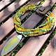 """Колье, бусы ручной работы. Ярмарка Мастеров - ручная работа. Купить Колье """"Желтая змея"""". Handmade. Зеленый, массивное колье"""
