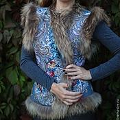 """Одежда ручной работы. Ярмарка Мастеров - ручная работа Жилет """"Тайна сердца""""(серый). Handmade."""