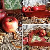 """Для дома и интерьера ручной работы. Ярмарка Мастеров - ручная работа поднос """" Райские яблоки"""". Handmade."""