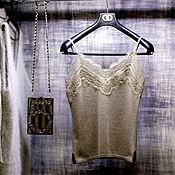 Одежда handmade. Livemaster - original item Cashmere top with lace. Handmade.