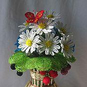 Цветы и флористика ручной работы. Ярмарка Мастеров - ручная работа Букет с бабочкой. Handmade.