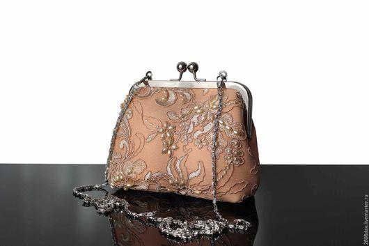 Женские сумки ручной работы. Ярмарка Мастеров - ручная работа. Купить Вечерняя сумочка, театральная сумочка, светлая сумочка, вышивка. Handmade.
