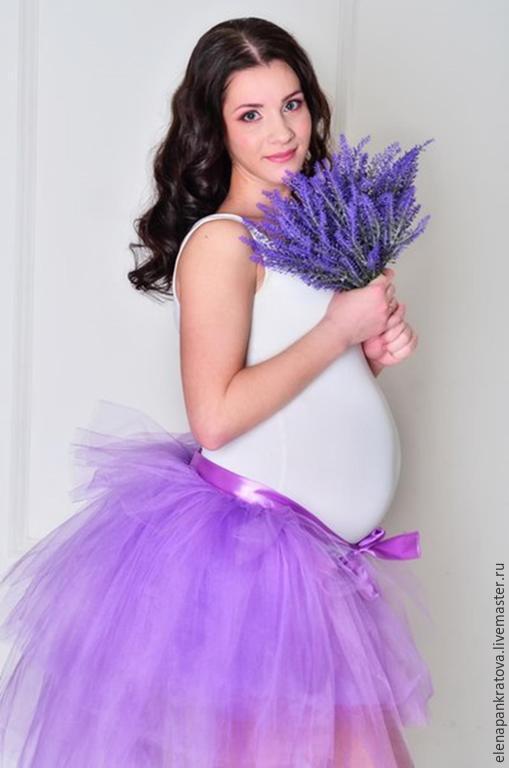 Беременная в юбке пачка