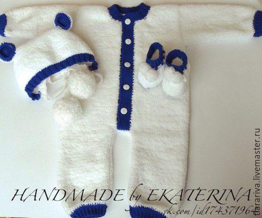 Для новорожденных, ручной работы. Ярмарка Мастеров - ручная работа. Купить Плюшевый комплект. Handmade. Белый, нежный, теплый, плед