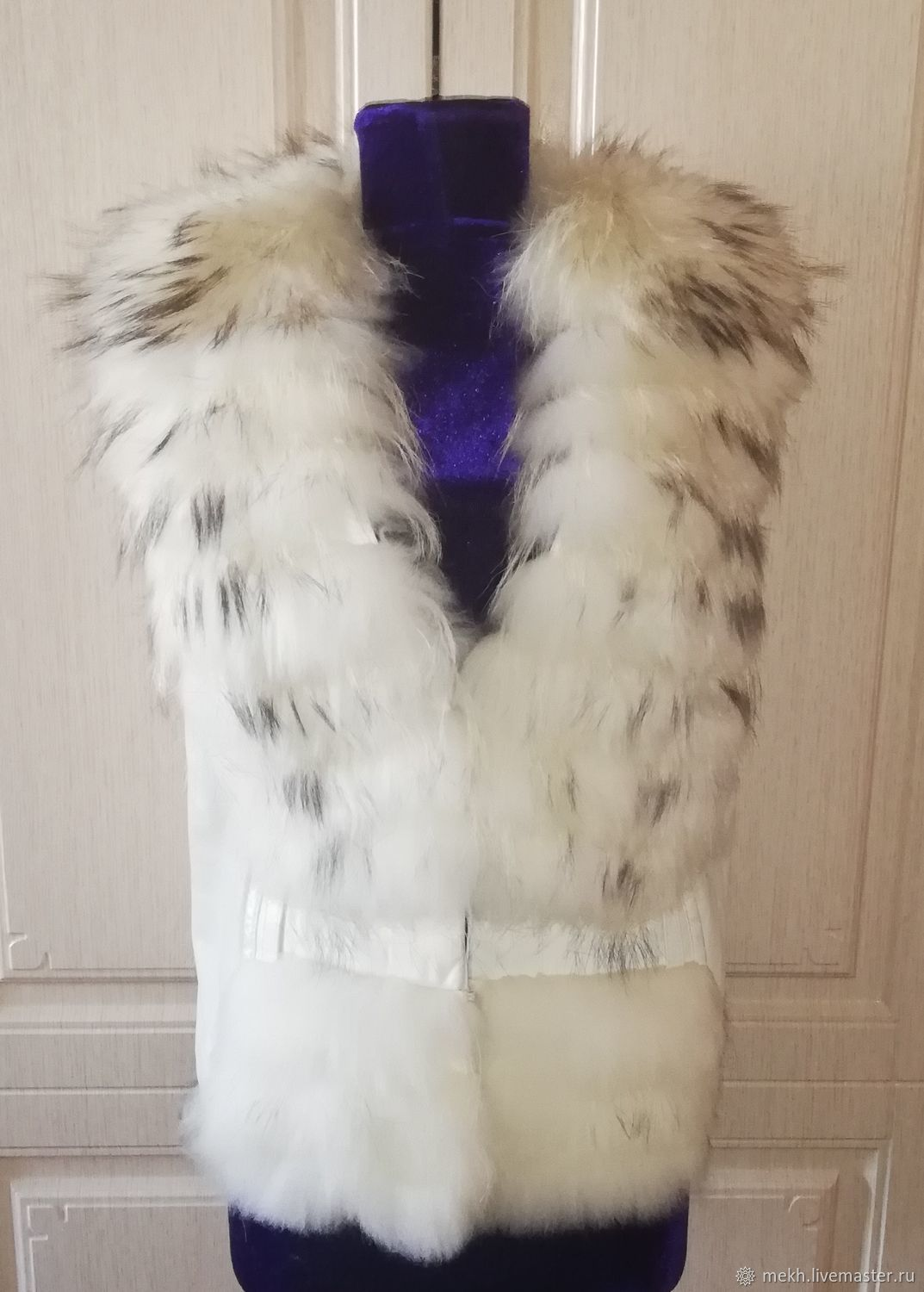 Clothing vintage: White raccoon vest, Vintage clothing, Novosibirsk,  Фото №1