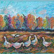 Картины и панно handmade. Livemaster - original item Pictures: Sunset. Geese.. Handmade.
