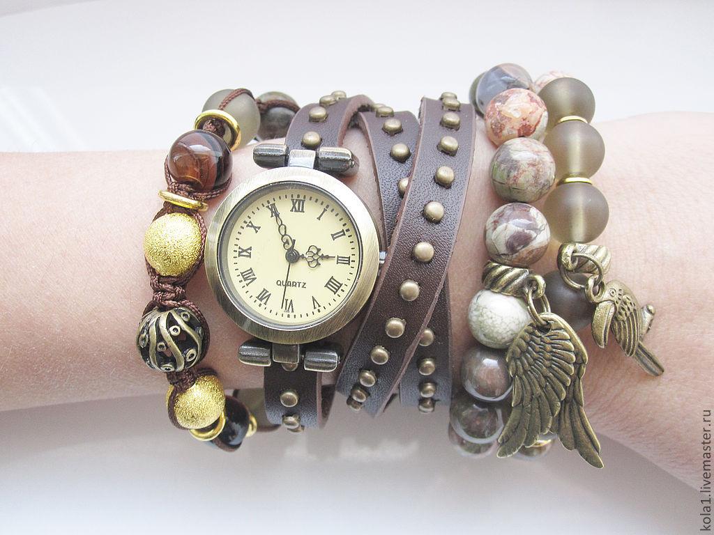 Как сделать часы с камнями 720