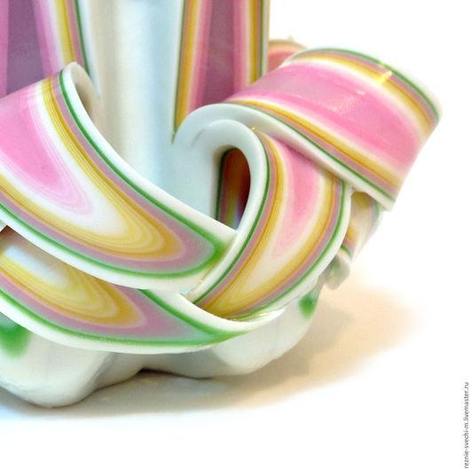 Свечи ручной работы. Ярмарка Мастеров - ручная работа. Купить Резная свеча Лотос (арт.307). Handmade. Резные свечи