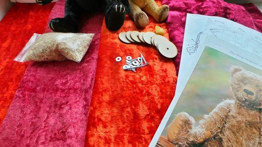 Куклы и игрушки ручной работы. Ярмарка Мастеров - ручная работа. Купить Наборы для шитья мишки Тедди-20 см, винтажный плюш. Handmade.