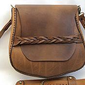 Сумка через плечо ручной работы. Ярмарка Мастеров - ручная работа Сумка через плечо: кожаная женская сумочка. Handmade.