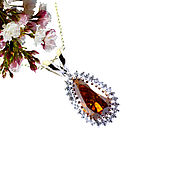 Украшения handmade. Livemaster - original item Status pendant with diamonds to buy. Handmade.