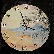 """Часы классические ручной работы. Ярмарка Мастеров - ручная работа Часы """"Японские мотивы"""". Handmade."""