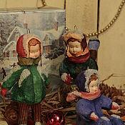 Подарки к праздникам ручной работы. Ярмарка Мастеров - ручная работа Ватные ребята.. Handmade.