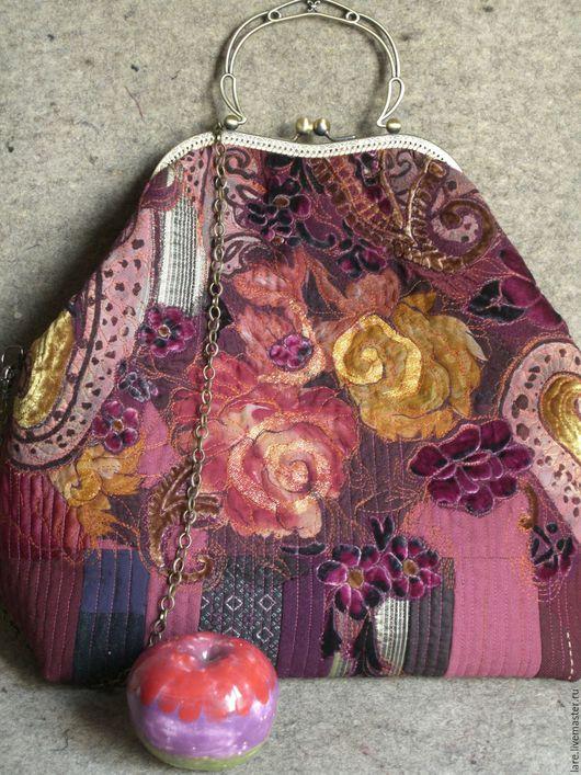 Женские сумки ручной работы. Ярмарка Мастеров - ручная работа. Купить Розы в стиле ретро. Handmade. Бордовый, подарок женщине
