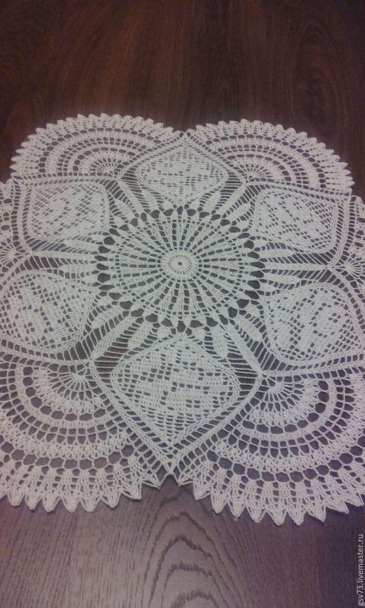 Текстиль, ковры ручной работы. Ярмарка Мастеров - ручная работа. Купить Салфетка крючком. Handmade. Салфетка, украшение для интерьера