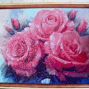"""Картины ручной работы. Ярмарка Мастеров - ручная работа Кратина """"Розы"""". Алмазная вышивка. Handmade."""