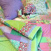 """Для дома и интерьера ручной работы. Ярмарка Мастеров - ручная работа Лоскутный комплект """"Конфетти""""  для девочки и мальчика в детскую. Handmade."""