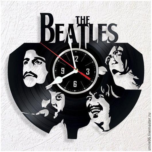 """Часы для дома ручной работы. Ярмарка Мастеров - ручная работа. Купить Часы из пластинки """"Beatles"""". Handmade. Beatles, комбинированный, рок"""