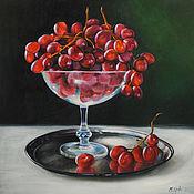 Картины и панно handmade. Livemaster - original item Oil painting Still life with red grapes. Handmade.