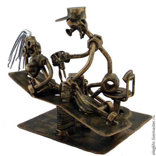 Миниатюрные модели ручной работы. Ярмарка Мастеров - ручная работа. Купить Тату Мастер. Handmade. Скульптурная миниатюра, подарок для врача