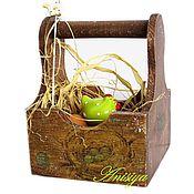 Для дома и интерьера ручной работы. Ярмарка Мастеров - ручная работа Корзина для кухни , для лука, чеснока. Handmade.