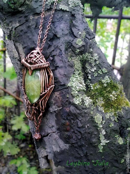Кулоны, подвески ручной работы. Ярмарка Мастеров - ручная работа. Купить Кулон  Эльфийская принцесса 3 апатит натуральный. Handmade.