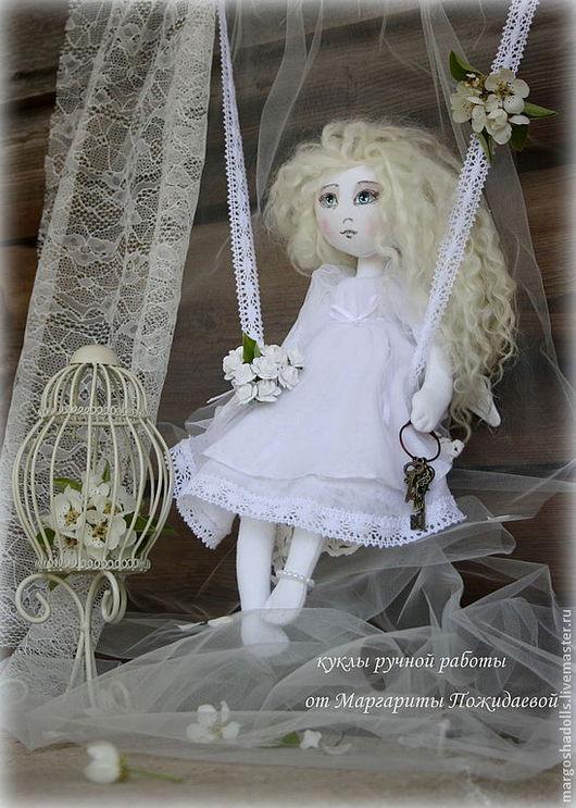 """Куклы тыквоголовки ручной работы. Ярмарка Мастеров - ручная работа. Купить Интерьерная кукла""""Ангел заветных желаний."""". Handmade. Белый"""