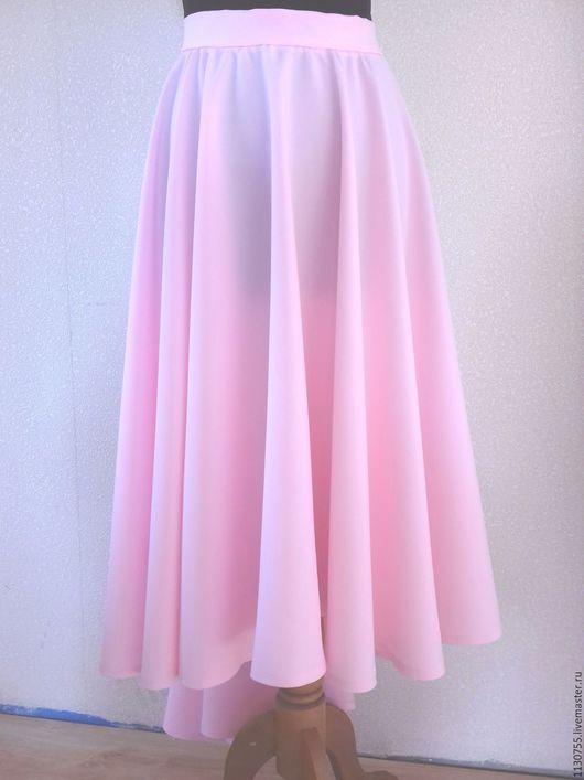 Юбки ручной работы. Ярмарка Мастеров - ручная работа. Купить юбка  солнце  из габардина розовая. Handmade. Бледно-розовый