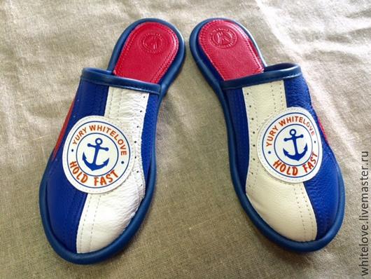 """Обувь ручной работы. Ярмарка Мастеров - ручная работа. Купить Тапочки из кожи """"Hold Fast"""". Handmade. Тапочки, мужские тапочки"""