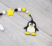 Работы для детей, ручной работы. Ярмарка Мастеров - ручная работа Пингвин на держателе. Handmade.