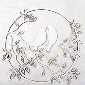 Панно ручной работы. Ярмарка Мастеров - ручная работа Панно Птицы не дереве. Handmade.