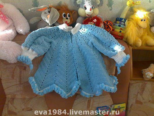 Одежда для девочек, ручной работы. Ярмарка Мастеров - ручная работа. Купить Пальтишко для снегурочки. Handmade. Эксклюзивная работа, пряжа