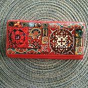 Сумки и аксессуары handmade. Livemaster - original item Red handmade Magic leather wallet. Handmade.