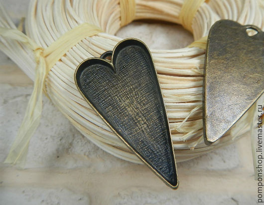 """Для украшений ручной работы. Ярмарка Мастеров - ручная работа. Купить Подвеска-сеттинг """"Сердце"""". Handmade. Сеттинг сердце, сеттинг"""