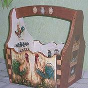 Для дома и интерьера ручной работы. Ярмарка Мастеров - ручная работа Короб  в стиле кантри Птичий дом. Handmade.