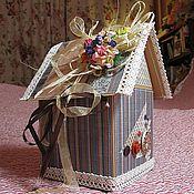 Сувениры и подарки ручной работы. Ярмарка Мастеров - ручная работа Домик для сбережений: конфет,подарочков,секретиков. Handmade.