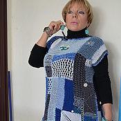 """Одежда ручной работы. Ярмарка Мастеров - ручная работа Жилет пэчворк """"Остановка по требованию"""". Handmade."""