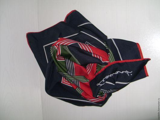 Винтажная одежда и аксессуары. Ярмарка Мастеров - ручная работа. Купить Платок Leonardi с необычным геометрическим. Handmade. Платок, винтажный платок