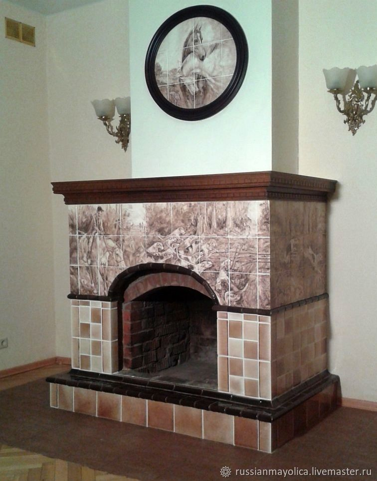 Hunting fireplace, Fireplaces, Moscow,  Фото №1