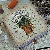 """Для дома и интерьера ручной работы. Ярмарка Мастеров - ручная работа Короб-лаврушница """"Lavender"""". Handmade."""