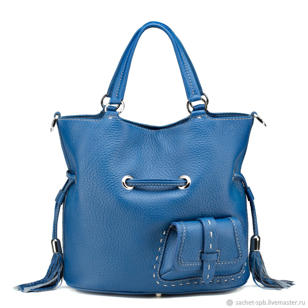 Women's leather bag 'Gypsy' (blue), Tote Bag, St. Petersburg,  Фото №1