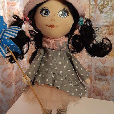 Куклы и игрушки ручной работы. Ярмарка Мастеров - ручная работа Малышка с вертушкой. Handmade.