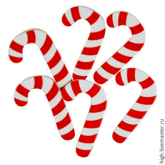 Набор пуговиц Favorite Findings Big candy canes Арт. 1361